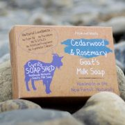 Cedarwood and Rosemary handmade Goats Milk Soap