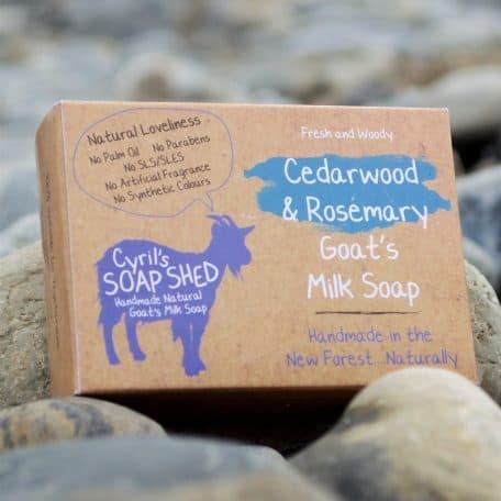 Cedarwood and Rosemary handmade Goats Milk Soap