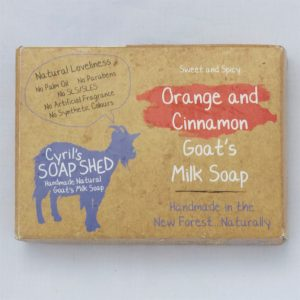 Orange & Cinnamon Goats Milk Soap handmade by Cyril's Soap Shed