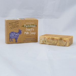 Patchouli goats milk natural soap handmade in the New Forest