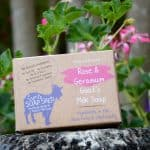 Rose and geranium soap handmade in the New forest