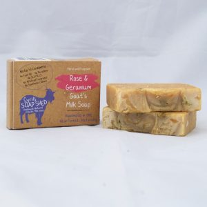 Rose and geranium soap handmade in the New forest by Cyril's Soap Shed