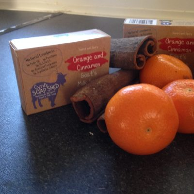 Orange & Cinnamon Goats Milk Soap