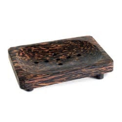 Coconut wood soap dish