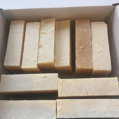 Unfragranced Goats Milk Soap 10 Pack Naked