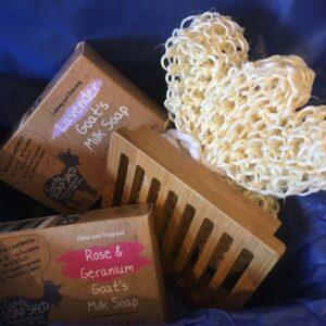gift box goats milk soap
