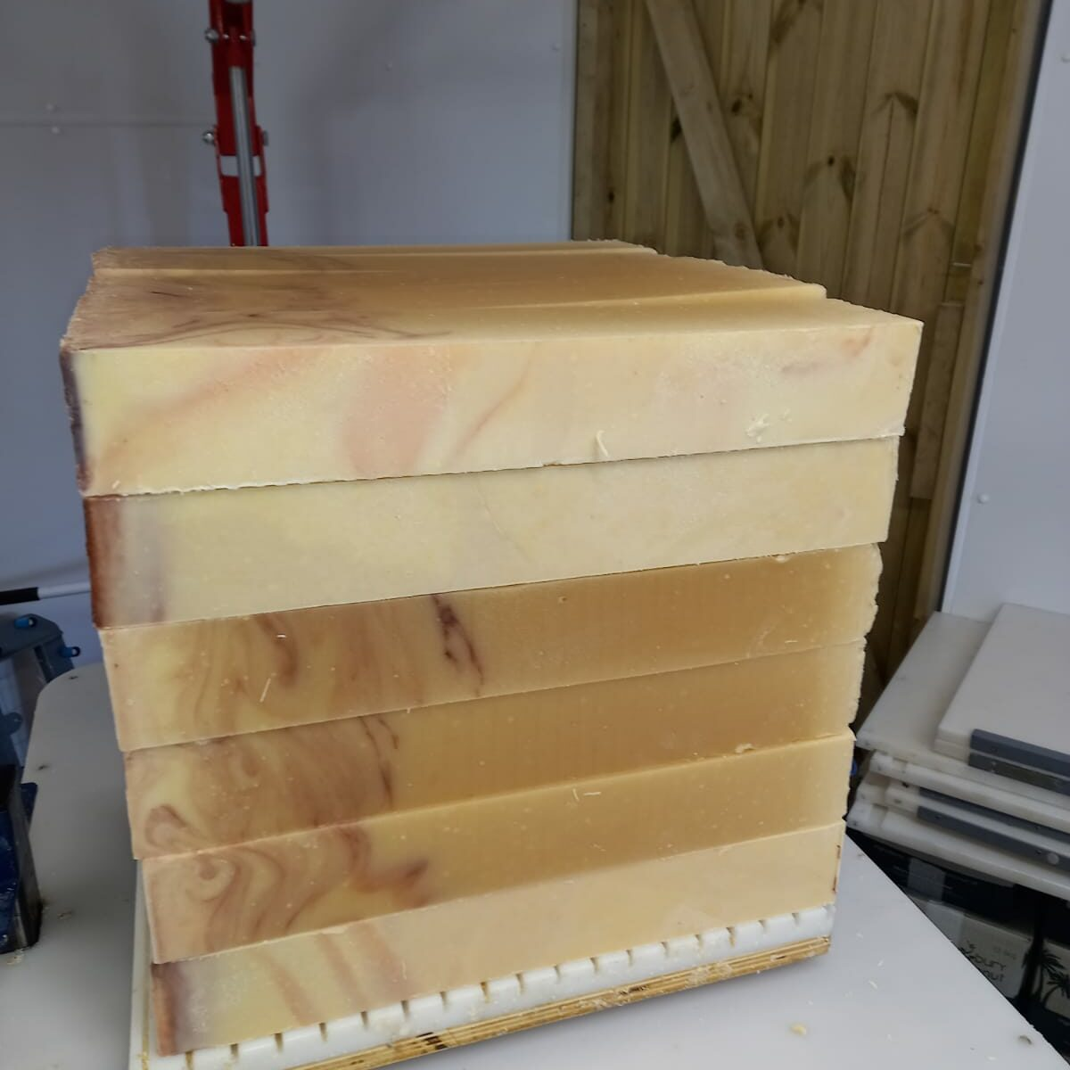 How we make our Goats Milk Soap in our workshop